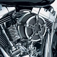 Kuryakyn Chrome Mach 2 Co-Ax Air Cleaner Kit