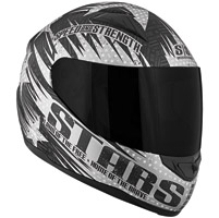 Speed and Strength SS1100 Stars and Stripes Matte Black Full Face Helmet