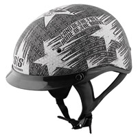 Speed and Strength Stars and Stripes SS300 Matte Black/Silver Half Helmet