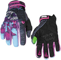 Speed and Strength Wicked Garden Black/Purple Mesh/Textile Gloves