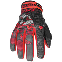 Speed and Strength Wicked Garden Black/Red Mesh/Textile Gloves