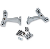Drag Specialties Chrome Passenger Floorboard Mounts