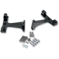 Drag Specialties Gloss Black Passenger Floorboard Mounts