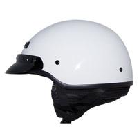 Zox Banos STG Gloss White Half Helmet