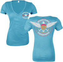 Speed and Strength Stars and Stripes Women′s V-neck T-shirt
