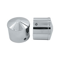 Avon Grips Chrome Custom Contour 1″ Axle Nut Covers
