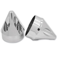 Avon Grips Chrome Spike 1″ Axle Nut Covers