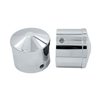 Avon Grips Chrome Custom Contour 7/8″ Axle Nut Covers