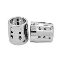 Avon Grips Chrome Gatlin 7/8″ Axle Nut Covers