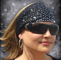 That's A Wrap Dazzle Black Knotty Head Band