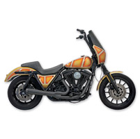 Bassani Road Rage Black 2-into-1 Short Megaphone System w/o Floorboards