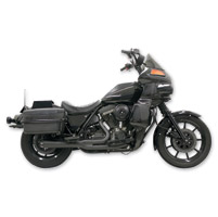Bassani Road Rage Black 2-into-1 Short Megaphone System w/ Floorboards