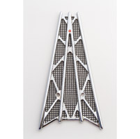 Battistinis Wireframe Chrome/Black Anodized Frame Grilles