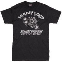 Lucky-13 Men′s Mummy Wrap Black T-shirt