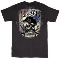 Lucky-13 Men′s Quality Cuts Black T-shirt