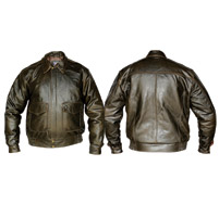 Allstate Leather Inc. Men′s Retro Brown Bomber Jacket