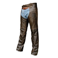 Allstate Leather Inc. Retro Brown Buffalo Leather Chaps