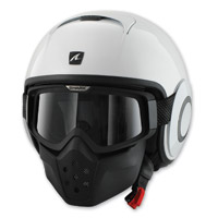 Shark RAW Blank White Open Face Helmet