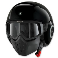 Shark RAW Blank Black Half Helmet