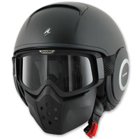 Shark RAW Blank Matte Black Open Face Helmet