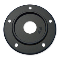 Motordog69 Max Medallion 5-Hole Black Mounting Plate for Twin Cam