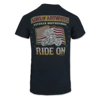 Sons of Arthritis Men's Veteran Brotherhood Black T-Shirt