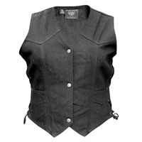 Allstate Leather Inc. Ladie′s Denim Vest