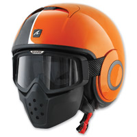 Shark RAW Stripe Orange/Black Helmet