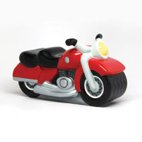 Pacific Trading Ceramic Motorcycle Bank