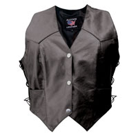 Allstate Leather Inc. Women's Concealed Carry Leather Vest