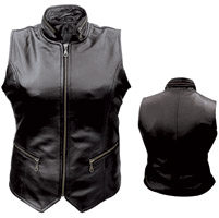 Allstate Leather Inc. Women's Zipper Leather Vest
