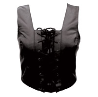 Allstate Leather Inc. Women's Front Laced Top