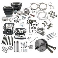 S&S Cycle 124″ Wrinkle Black Hot Set-Up Kit