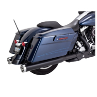 Vance & Hines Monster Round Exhaust Black Slip-Ons Black