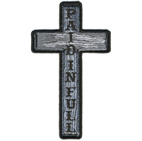 Hot Leathers Paid in Full Embroidered Cross Patch