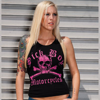Sick Boy Women′s Skeleton Black/Pink Tank Top