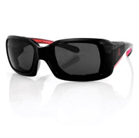 Bobster Ava Convertible, Black/Pink Frame/Anti-fog Smoked Lens