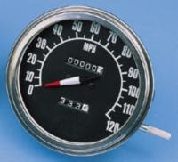 Biker's Choice Black FL-Style Speedometer