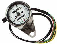 J&P Cycles® Mini Mechanical Speedometer with LED Indicators