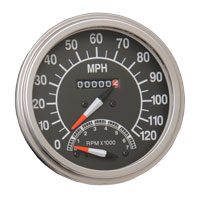 J&P Cycles® FL-Style Speedometer with Tachometer