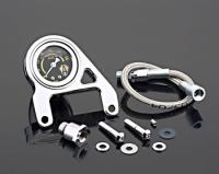 Arlen Ness Oil Pressure Gauge and Bracket Kit