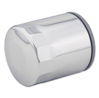 J&P Cycles® Top Quality Chrome Replacement Spin-on Oil Filter