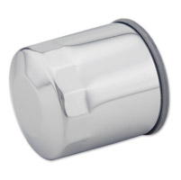 J&P Cycles® Chrome Oil Filter for Jardine  Oil Filter Relocation Kits