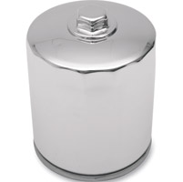 Milwaukee Twins Top Quality Chrome Oil Filter with Hex Top Nut