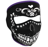 ZAN headgear Highway Honey with Rhinestones Neoprene Face Mask