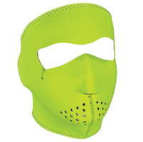 ZAN headgear High-Visibility Lime Neoprene Face Mask