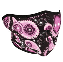 ZAN headgear Highway Honey Purple Paisley Neoprene Half Mask