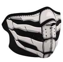 ZAN headgear Glow in the Dark Bone Breath Neoprene Half Mask