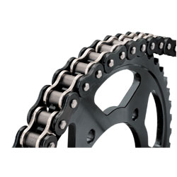 BikeMaster Black/Chrome 530 O-ring Chain, 130 Link
