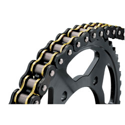 BikeMaster Black/Gold 530 O-ring Chain, 150 Link